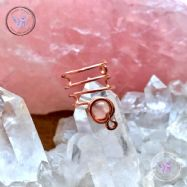 Rose Quartz Copper Ear Cuff